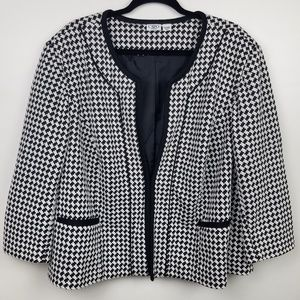 Cato Woman Houndstooth Blazer Jacket 26/ 28W